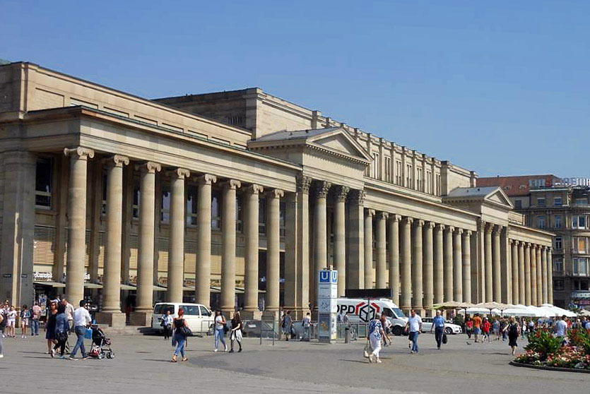 19th century building in Stuttgart, Germany
