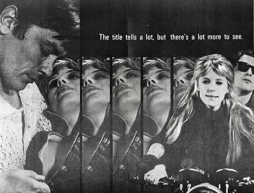 'The Girl on a Motorcycle' poster