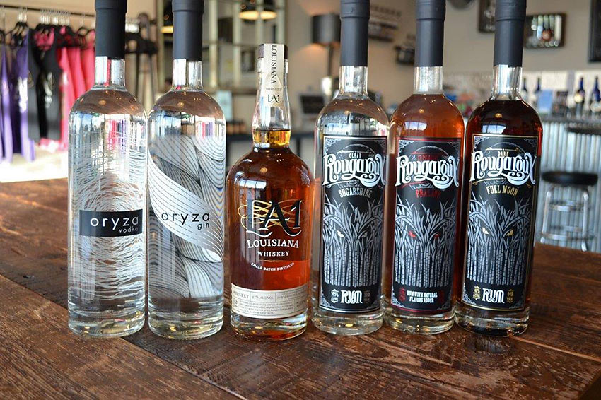 liquor products at the Donner-Peltier Distillers
