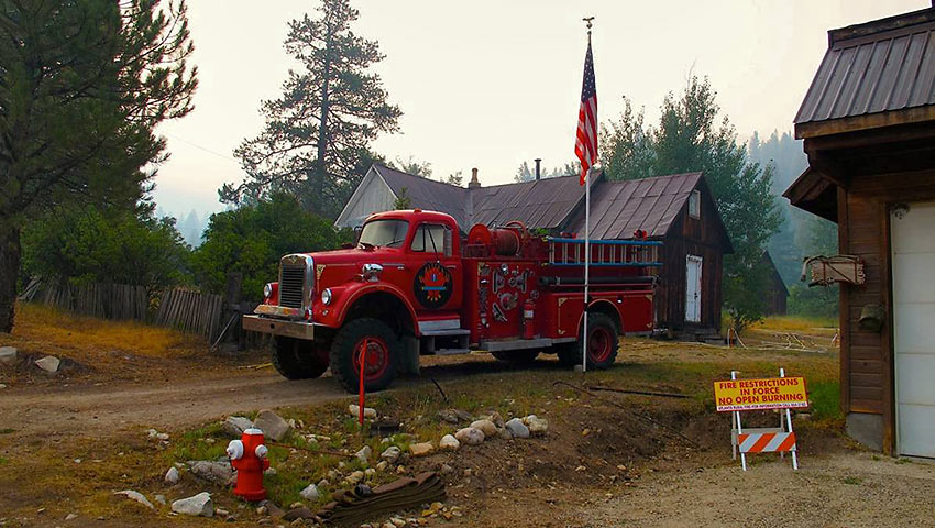 fire station at Atlanta, Idaho