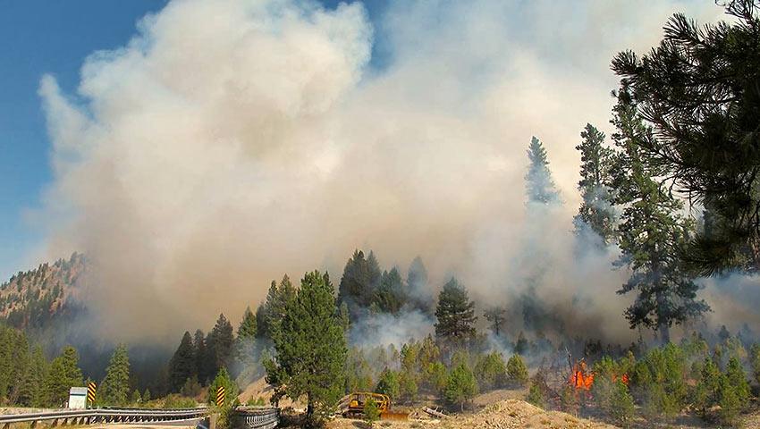 backburn started by firefighters at Atlanta, Idaho