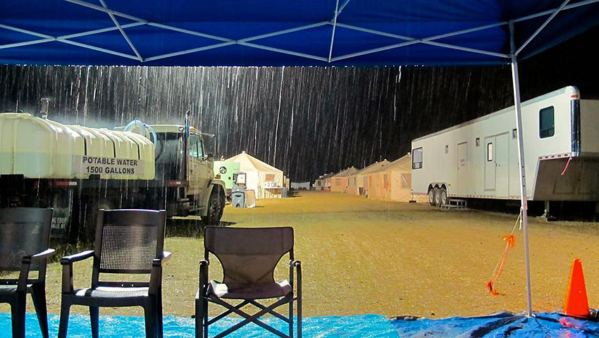 thunderstorm at the fire camp