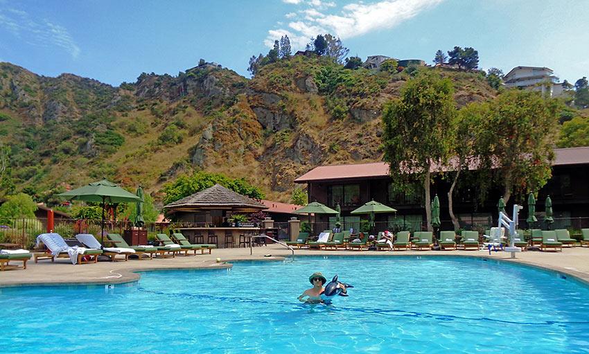 the pool at The Ranch, Laguna Beach