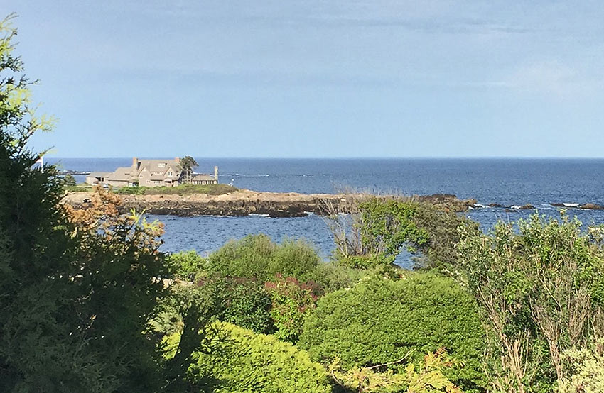 the Bush compound at Kennebunkport, Maine