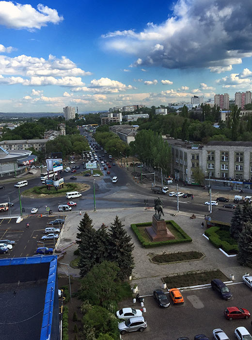 view of Chişinău from the Cosmos Hotel