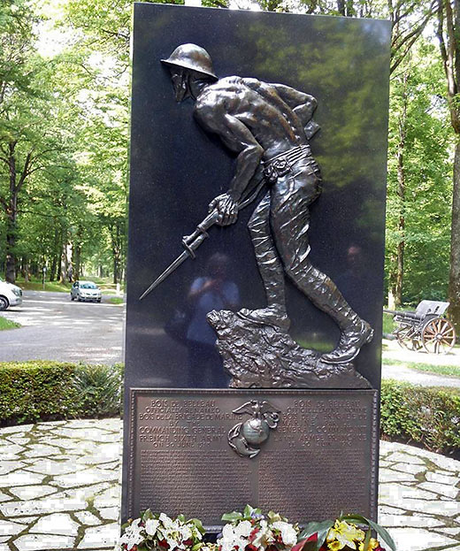 Memorial honoring the 4th Marine Brigade at Belleau Wood