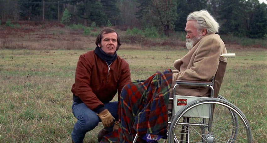 Jack Nicholson in a scene from Five Easy Pieces