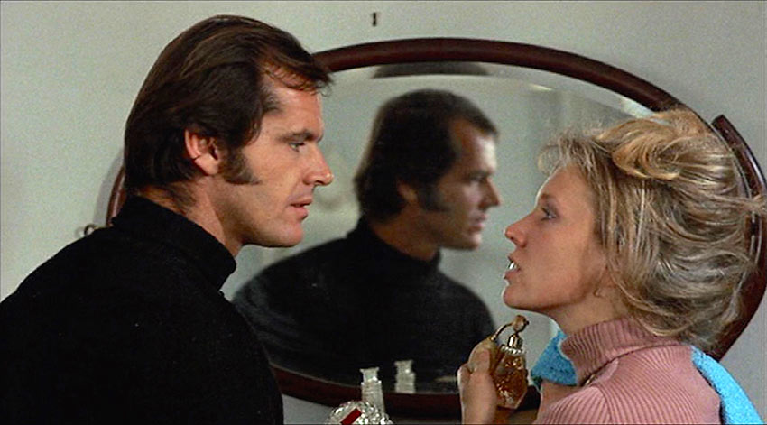 Susan Anspach and Jack Nicholson in a scene from Five Easy Pieces