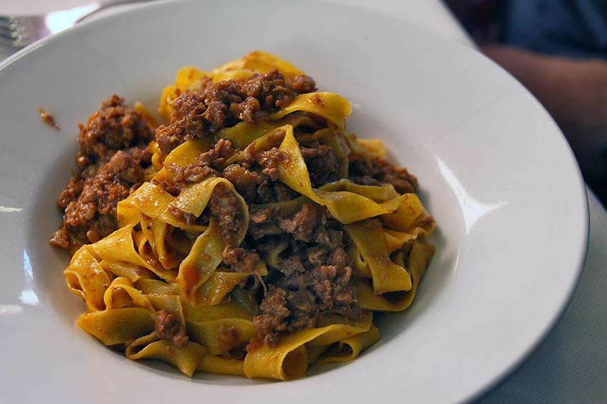 the tagliatelle al ragù