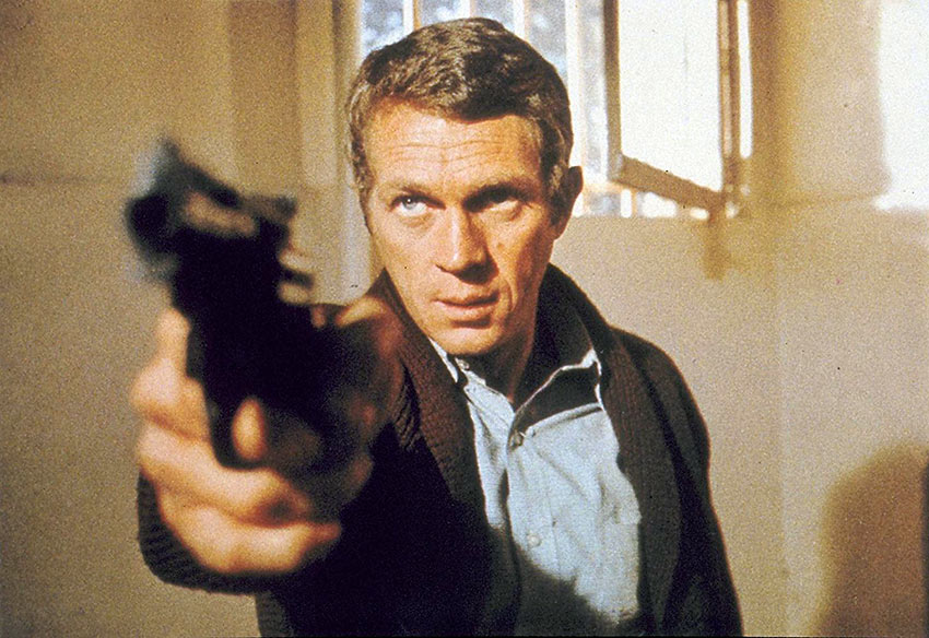 Steve McQueen in a scene from Bullitt