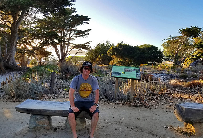 the writer at Carmel-by-the-Sea