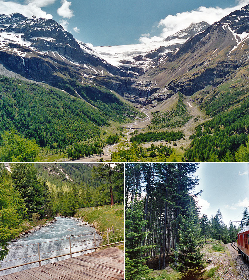 scenery along Bernina Express route
