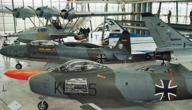classic aircraft on display at the Oberschleissham Airport Museum