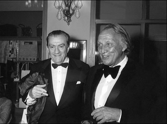 Joseph Losey and Luchino Visconti at the 1971 Cannes Film Festiva