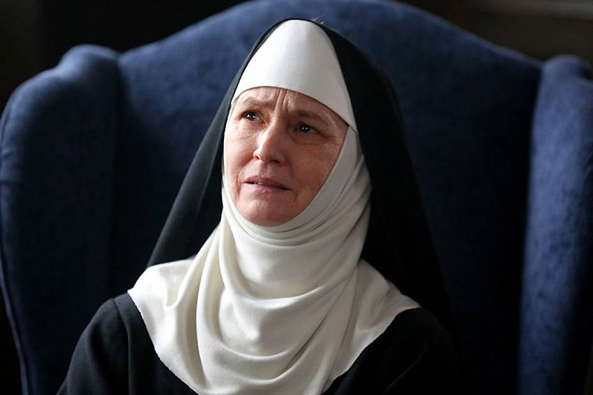 Melissa Leo as the Reverend Mother in 'Novitiate'