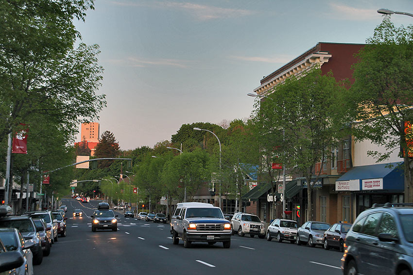 a street in Pullman, Washington