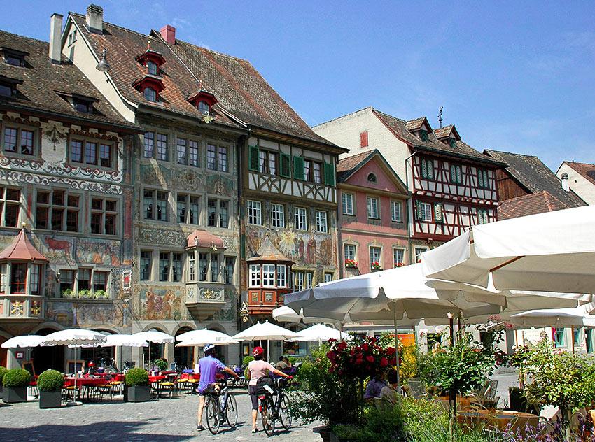 the Stein am Rhein Marktplatz at Lake Constance