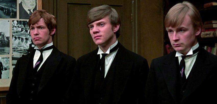 Malcolm McDowell, Richard Warwick and David Wood in a scene from the movie If...