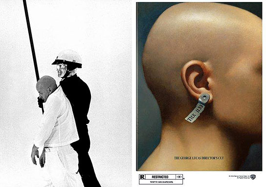 striking stills from THX 1138