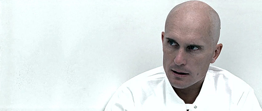 Robert Duvall in a scene from THX 1138
