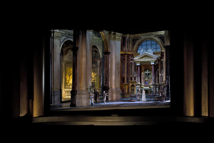 set model for David McVicar's new production of Tosca