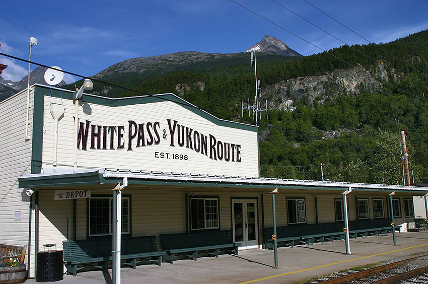 train depot on the White Pass and Yukon Route