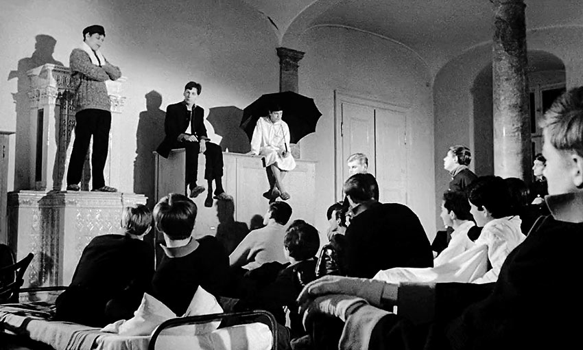 a classroom scene from the movie Young Törless