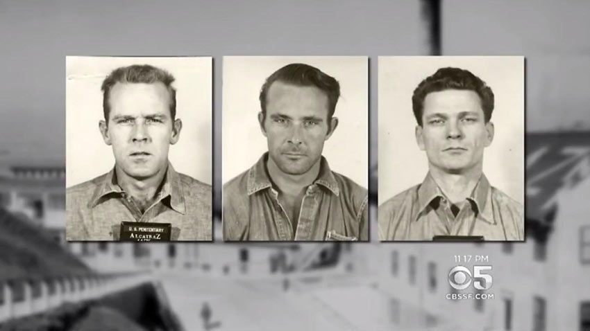 1962 Alcatraz escapees John and Clarence Anglin and Frank Morris