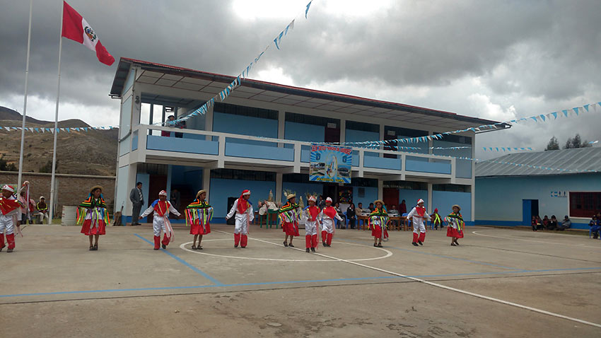 anniversary celebration at a primary school, Peru