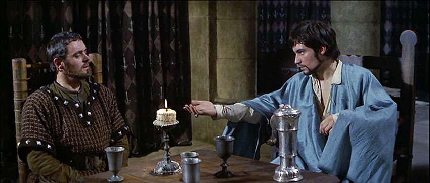 Anthony Hopkins and Timothy Dalton in a scene from The Lion in Winter
