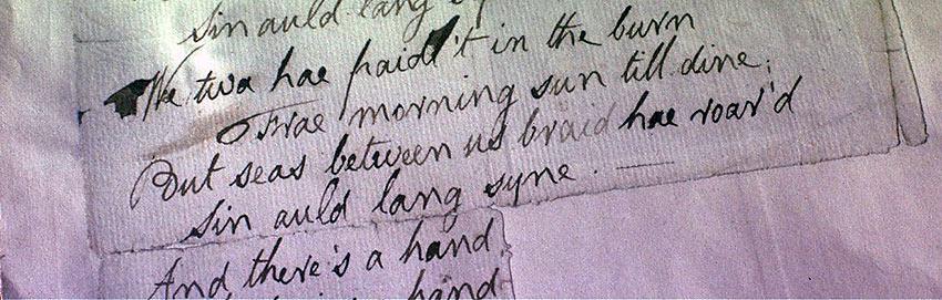 'Auld Lang Syne' letter