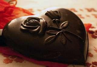 heart-shaped chocolate