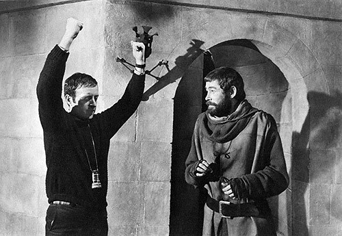Director Anthony Harvey with Peter O'Toole
