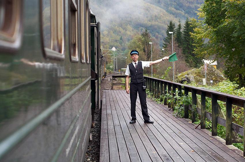 Flam Railway platform
