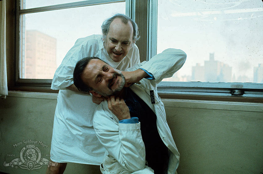 George C. Scott in a scene from The Hospital