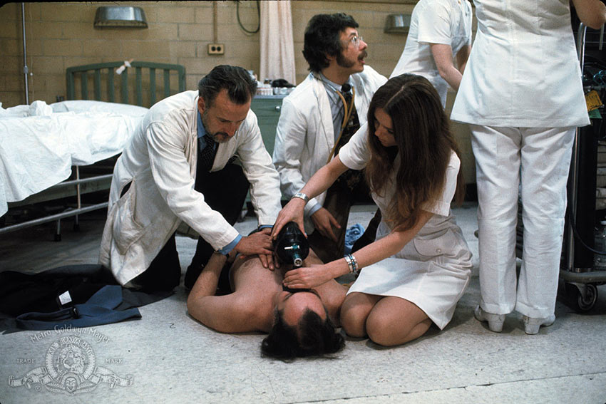 a scene from the movie The Hospital