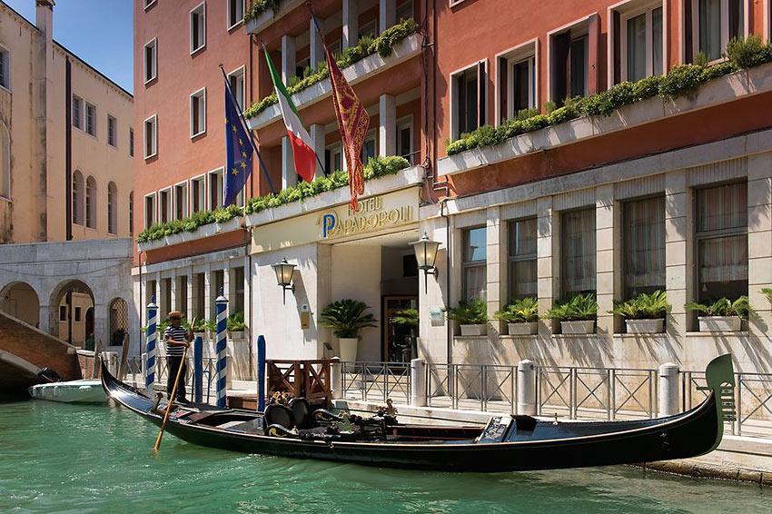 gondola at the Hotel Papadopoli Venice