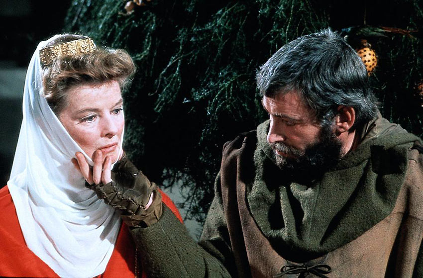 Peter O'Toole and Katharine Hepburn in a scene from The Lion in Winter