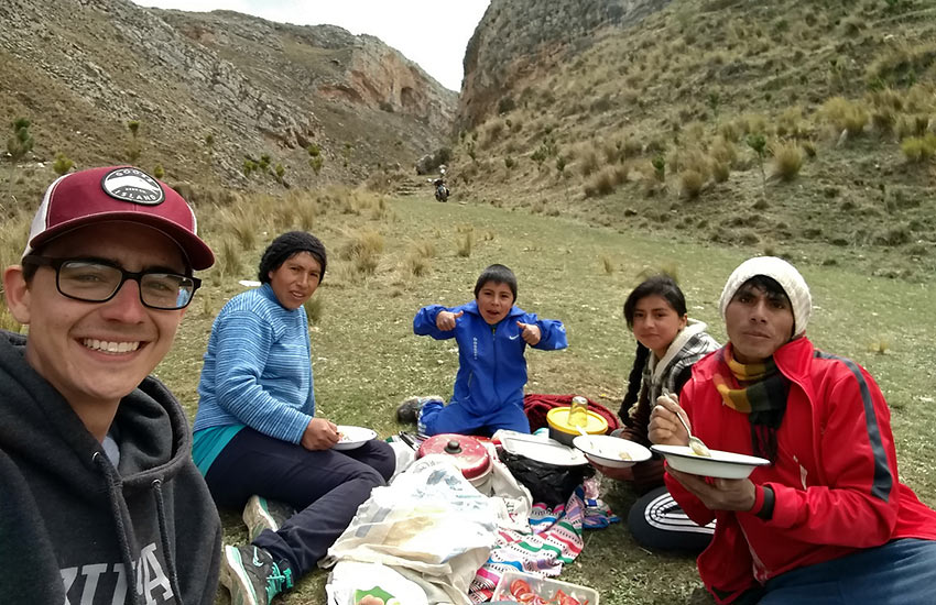 picnic on the way to ancient Incan ruins