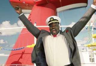 Shaquille O'Neal as Carnival's newly-named Chief Fun Officer.