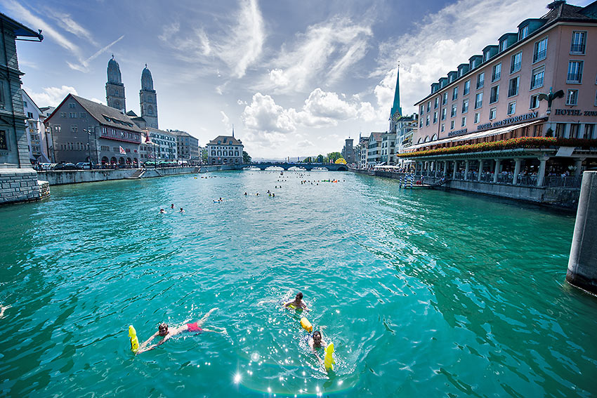 swimming in the River Limmat