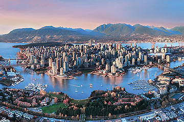 panoramic shot of Vancouver
