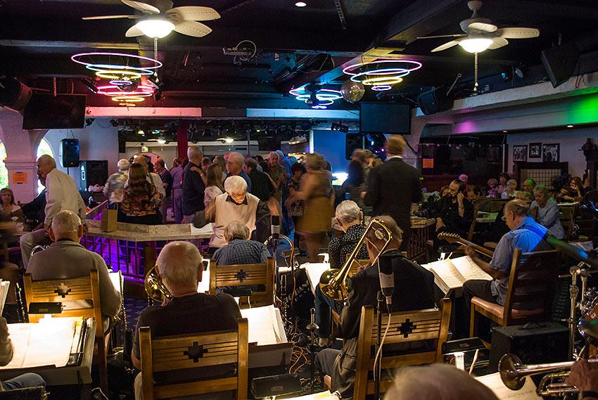 ohnny Vana's 18-piece Big Band Alumni performing at Las Hadas, Northridge, California
