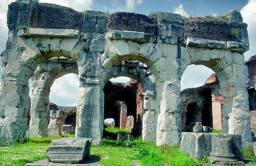 ancient ruins at Campania