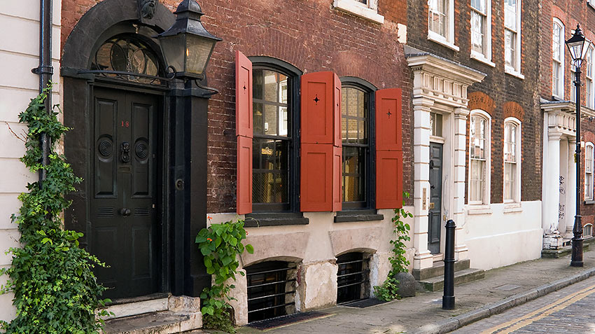 Dennis Severs House at 17 Folgate Street, in the London district of Spitalfields