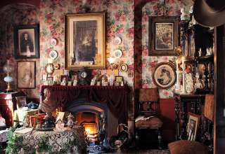 ornate room inside the Dennis Severs House