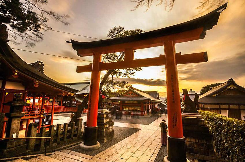 sunset scene, Japan
