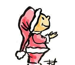 Kid Santa cartoon