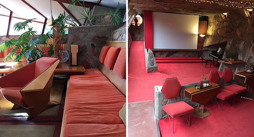 the living room and cabaret theater, Taliesin West
