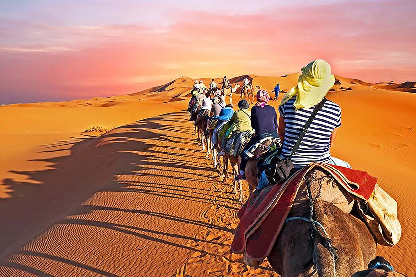 Sahara Desert caravan, Morocco